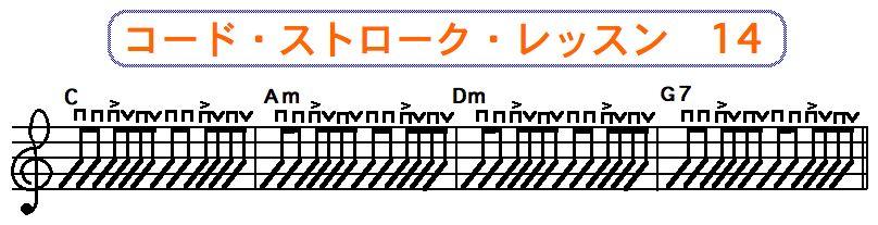 フラットピック奏法(コードストローク奏法) 14