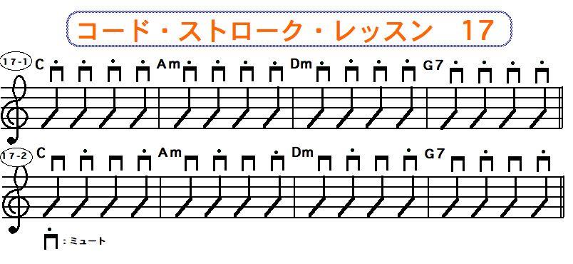 フラットピック奏法(コードストローク奏法) 17