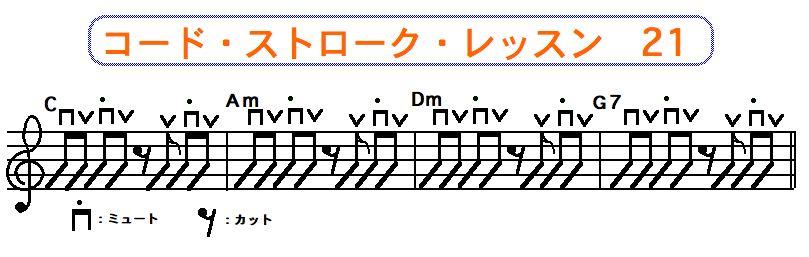 フラットピック奏法(コードストローク奏法) 21