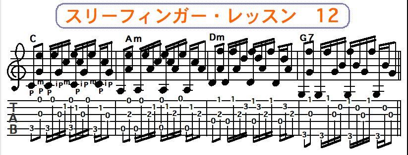 スリーフィンガーピッキング奏法 12