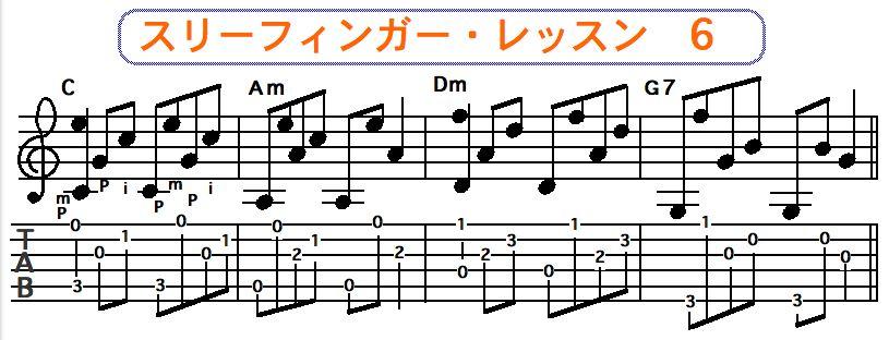 スリーフィンガーピッキング奏法 6