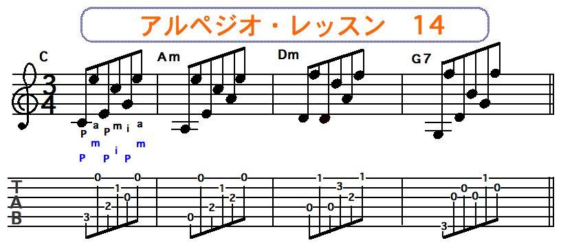アルペジオ奏法14