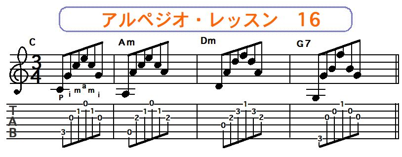アルペジオ奏法 16
