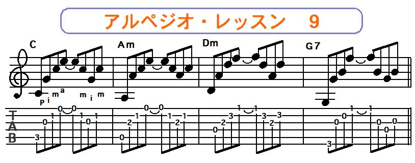 アルペジオ奏法 9