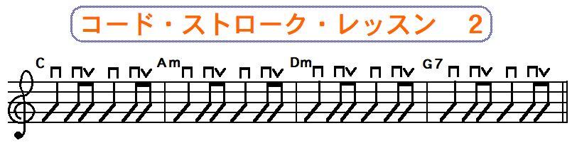 フラットピック奏法(コードストローク奏法)アップストローク,ダウンストローク