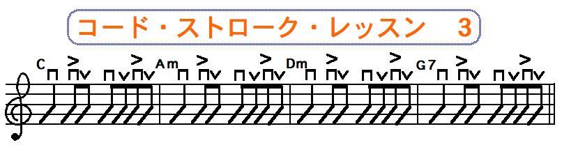 フラットピック奏法(コードストローク奏法) 3