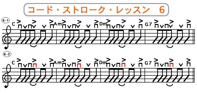 フラットピック奏法(コードストローク奏法)6