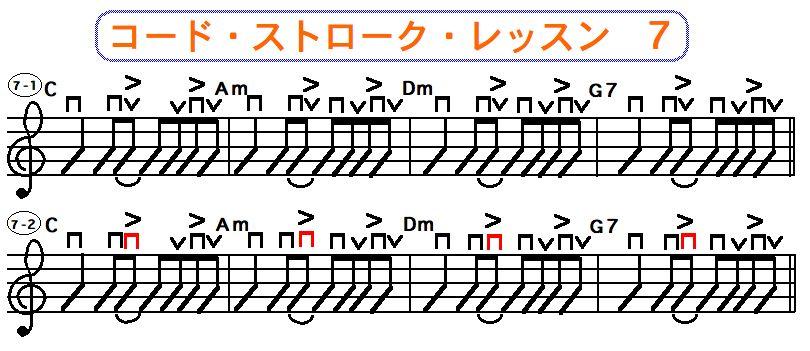 フラットピック奏法(コードストローク奏法) 7