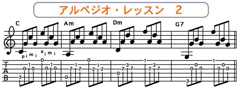 アルペジオ奏法 2