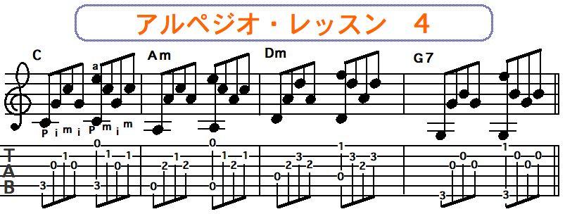 アルペジオ奏法 4