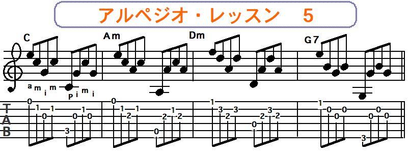 アルペジオ奏法 5