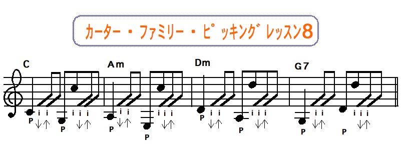 カーターファミリーピッキング奏法 8